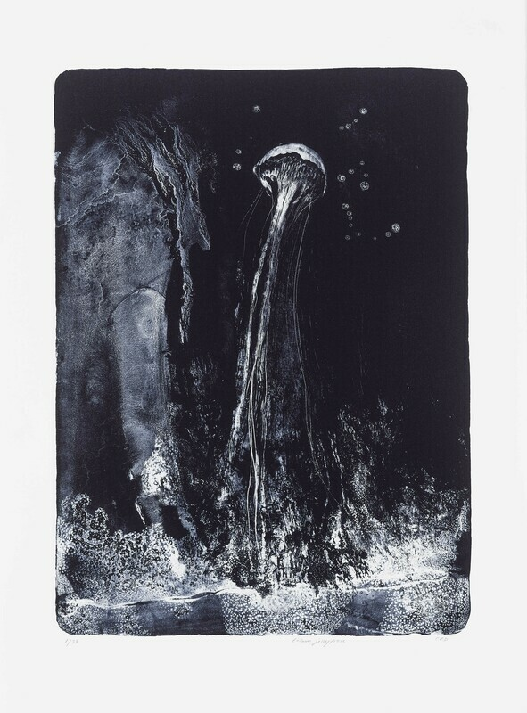 Totem Jellyfish - Lithograph