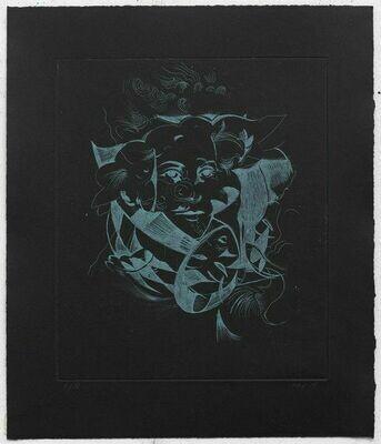 Hellequin (Black Portrait) - Etching