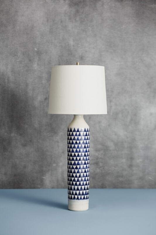 Checkered Lamp (Blue)