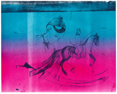Trickster Horse - Lithograph Monoprint 1/1