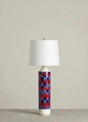 Checkered Lamp (Red/Blue/Turquise/Lilac)