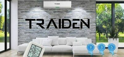Traiden Air  12000K BTU 220 Volt  Mini Split System with  Remote 13 SEER  NONWIFI