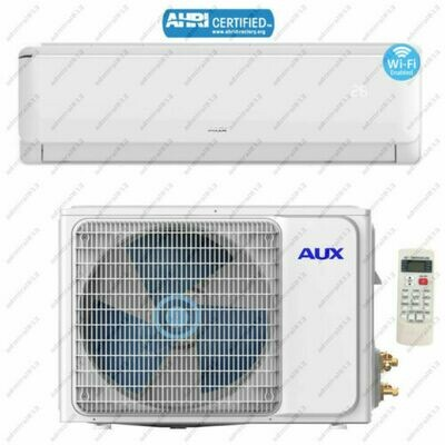 AUX 24000 BTU Mini Split Heat Pump with Inverter Compressor  208/230 V   17 SEER with WIFI and 25 Foot Lineset Install Kit