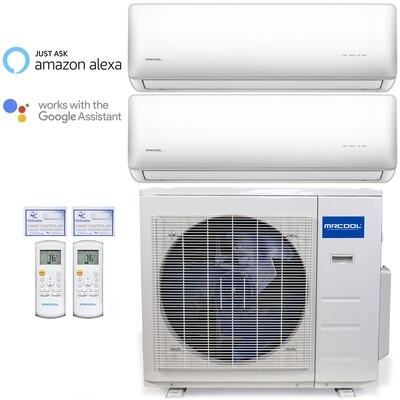MRCOOL Olympus 18000 BTU Dual Head Mini Split System with Dual 9000 BTU Heads 230 Volt  22.5 SEER with WIFI Remotes FREE SHIPPING