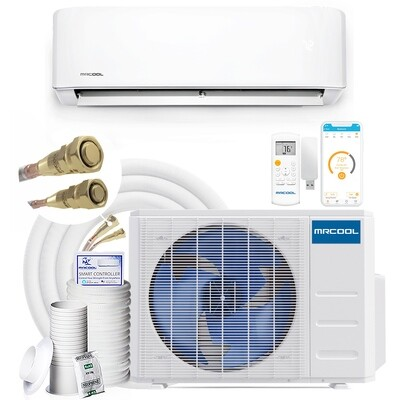 MRCOOL Energy Star 12000 BTU DIY Mini Split System 115 Volt  22 SEER with 25 Foot Lineset Install Kit and Enhanced WIFI