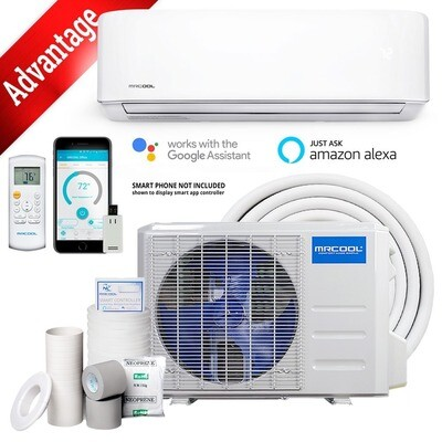 MRCOOL 9000 BTU Advantage 230 Volt 19 SEER   Mini Split System with Remote and 16 FT Lineset Install Kit  WIFI Enabled
