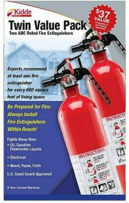 Kidde BJS 111829 Fire Extinguisher- 2 PACK
