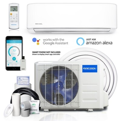 MRCOOL 12000 BTU Energy Star 115 Volt 23 SEER with 16 Foot Lineset Install Kit and WIFI Remote