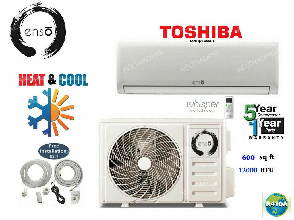 SATORI 12,000 BTU Ductless Air Heat Pump Mini Split 20 SEER 110 Volt with WIFI and Lineset Install Kit