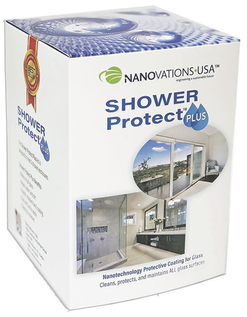 Shower Protect Plus® Provides glass protection for two showers