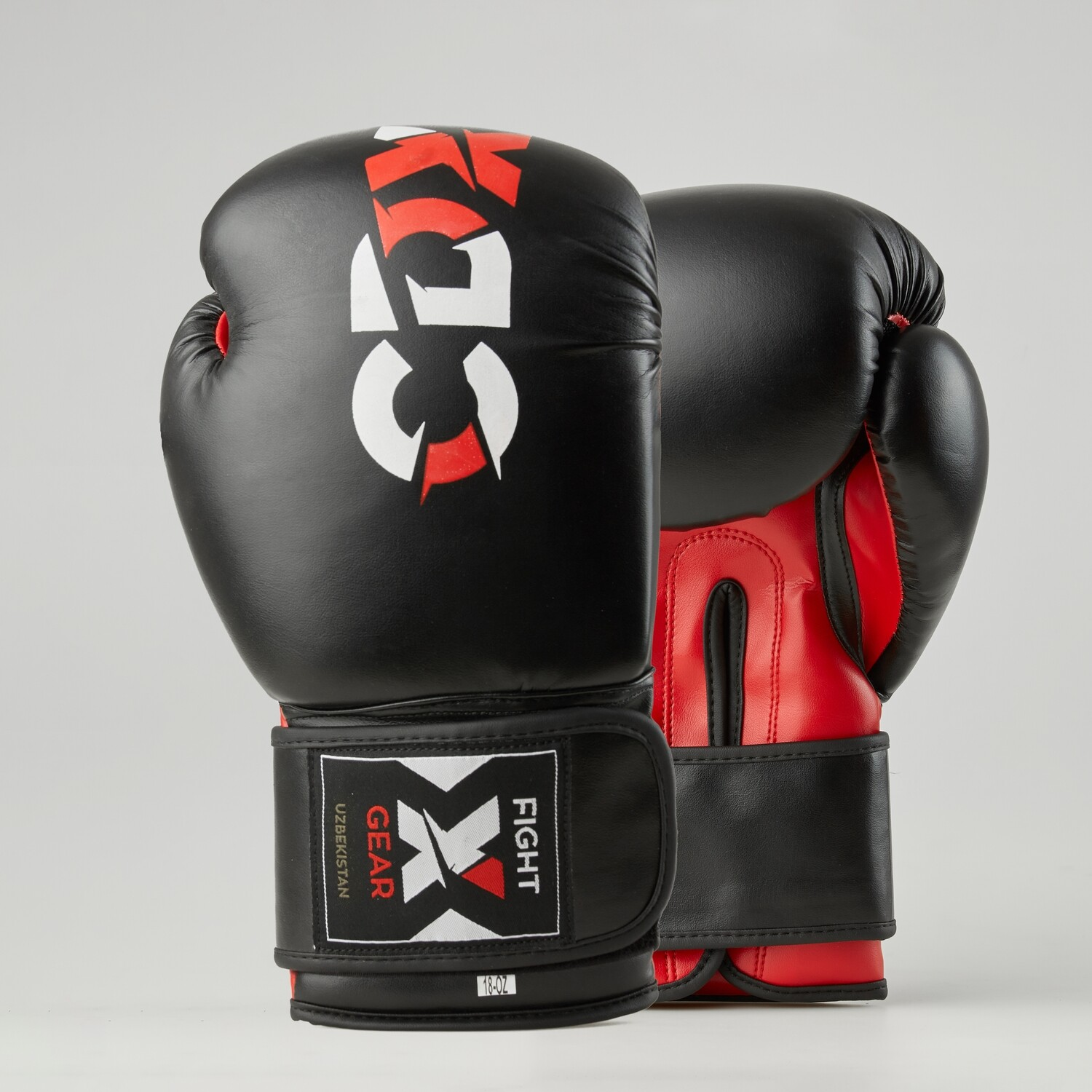 """Boxing gloves artificial leather """"Rexin"""" black-red"""