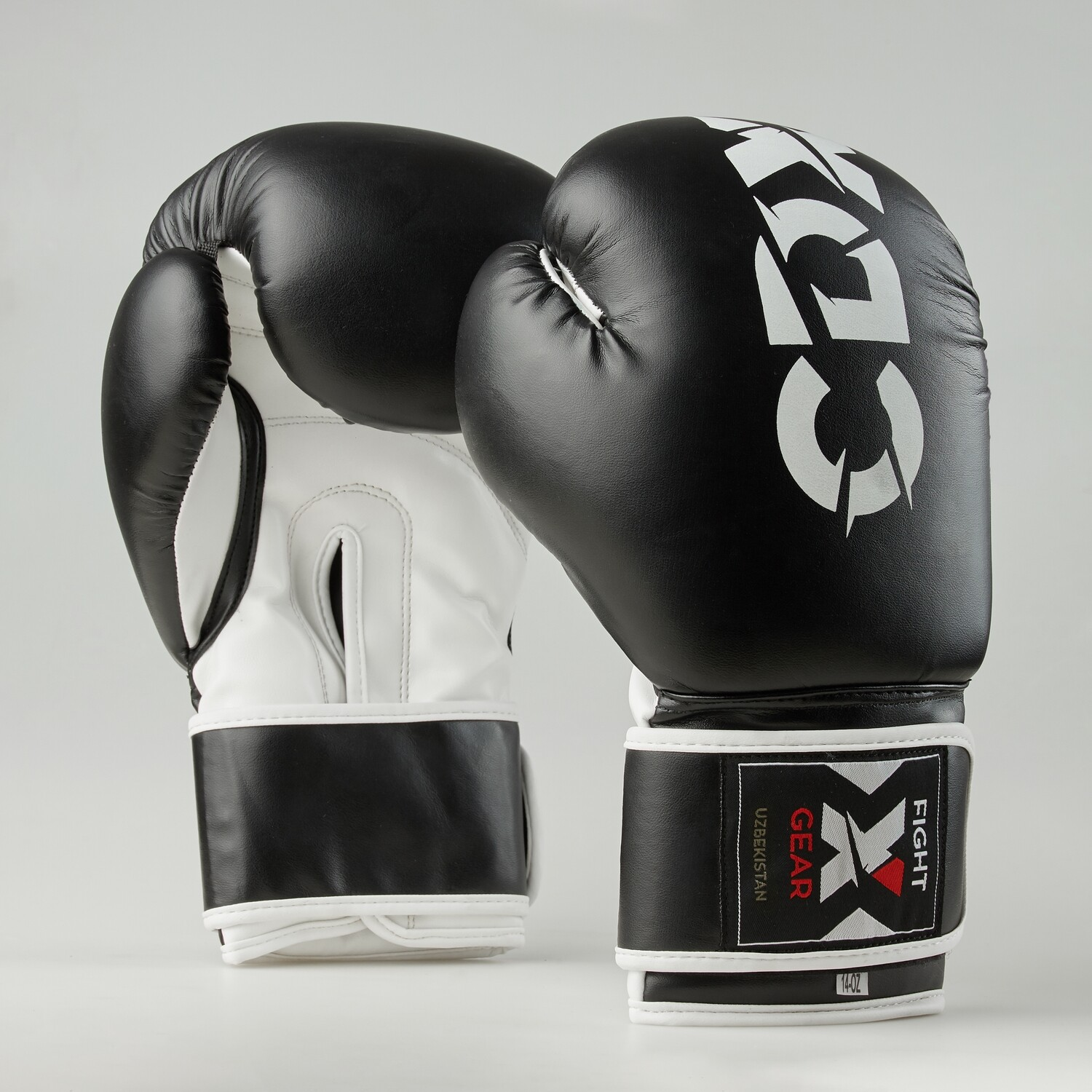 """Boxing gloves artificial leather """"Rexin"""" black-white"""
