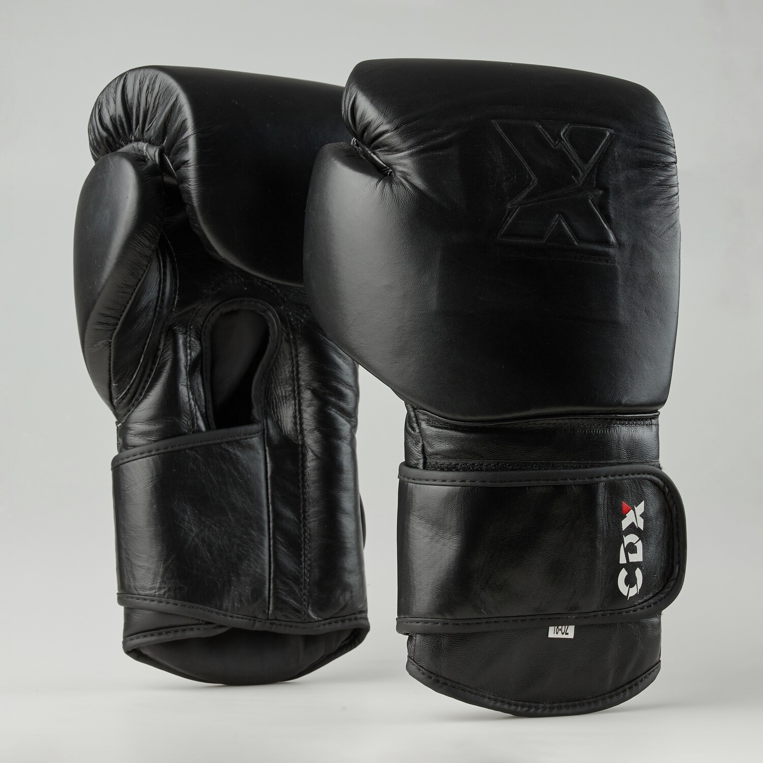 """Genuine leather boxing gloves """"X"""" logo with stamp technology"""