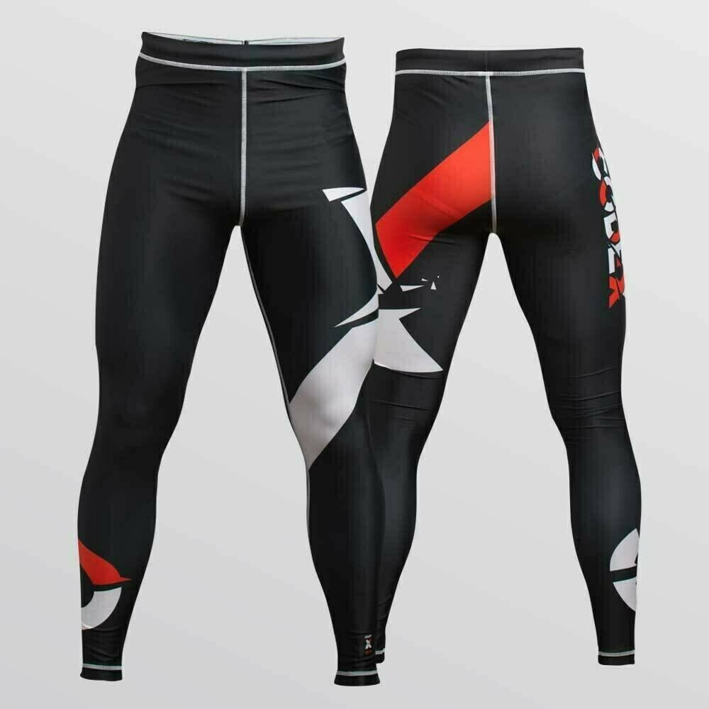 "Compression Pants ""X"" Design For ​Grappling"