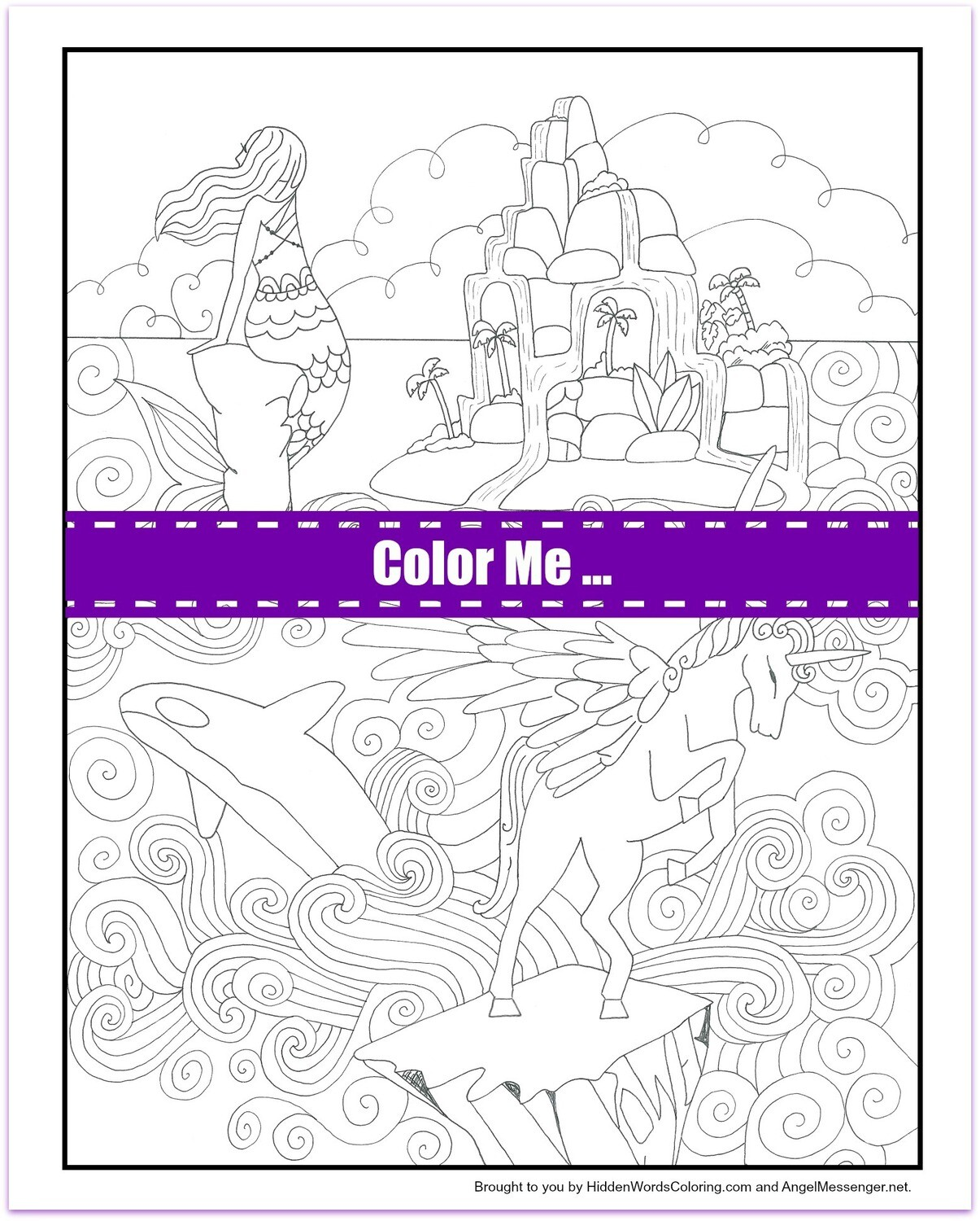 Orca Spirit Coloring Page