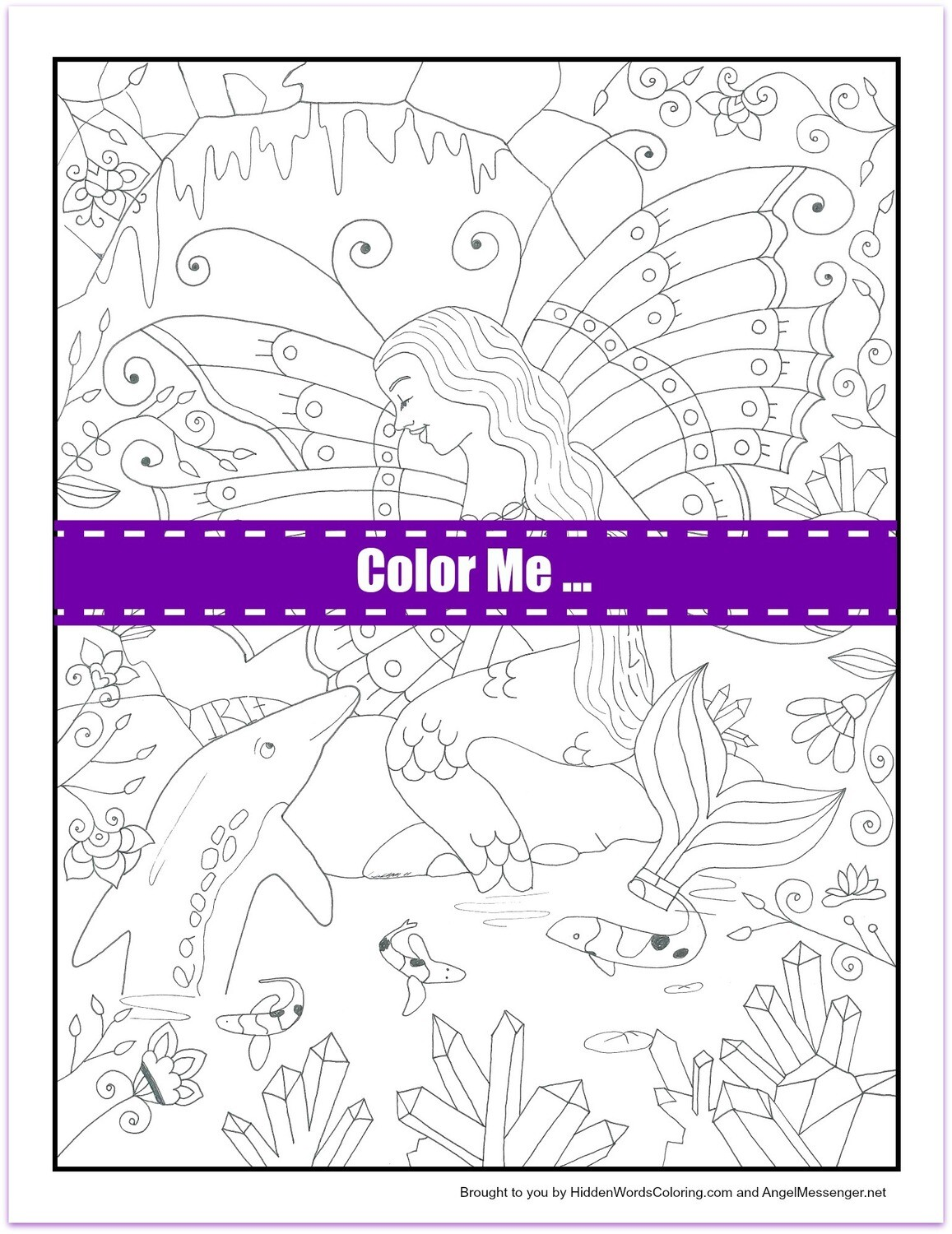 Boomali Dolphin Spirit Coloring Page