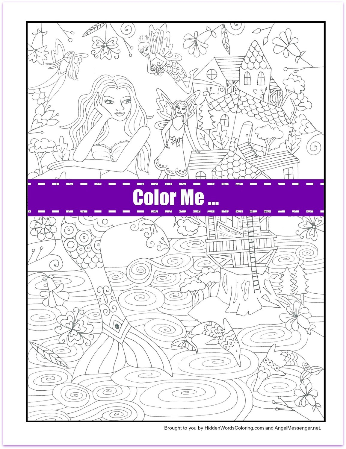 Little People Coloring Page