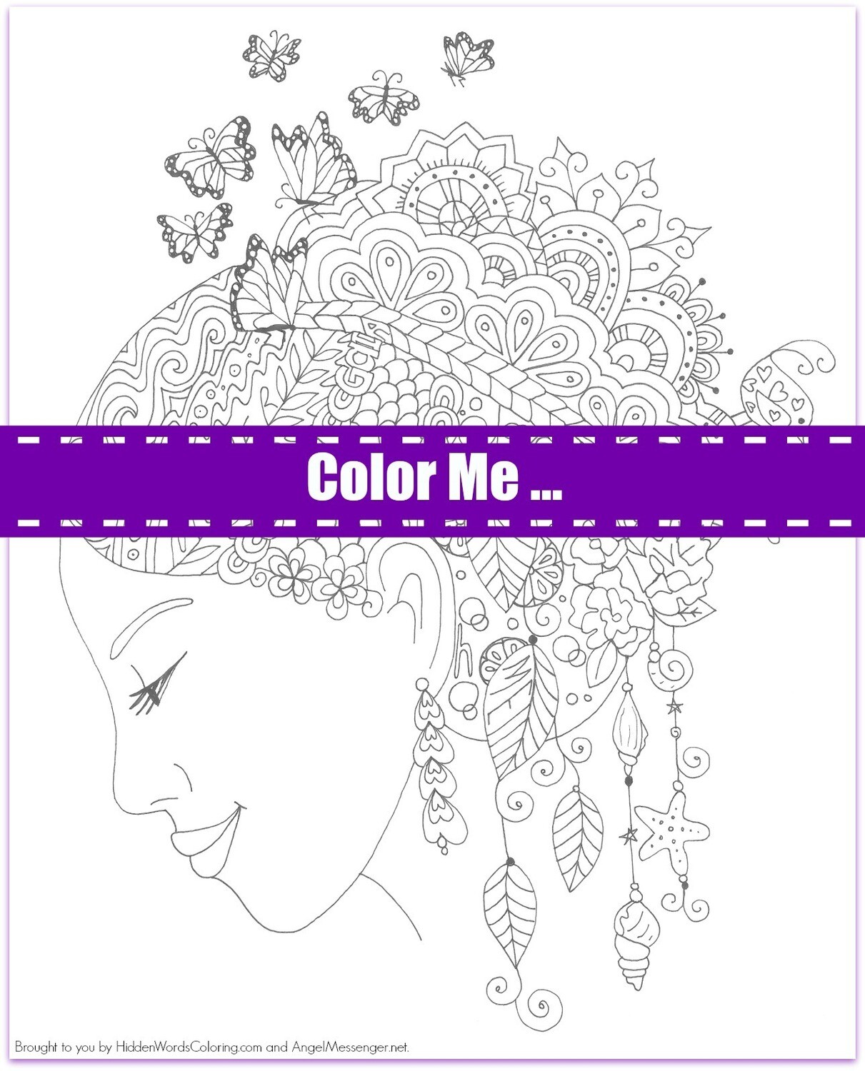Gaia Butterfly Coloring Page