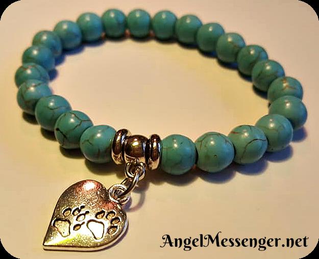 Turquoise Paw Print Bracelet