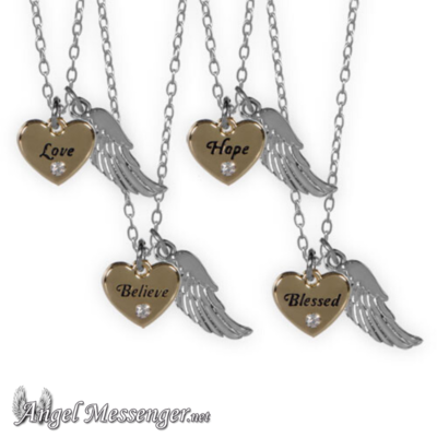 Guardian Angel Heart Necklaces