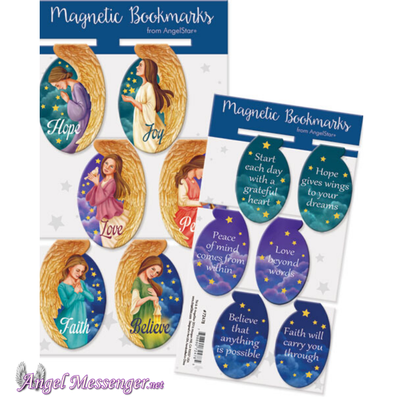Angel Oval Magnetic Bookmarks