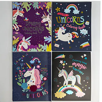 Awesome Unicorn Coloring Books
