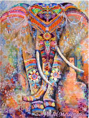 Elephant Mosaic 5D DIY Diamond Painting Kit
