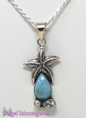 Starfish Larimar Necklace