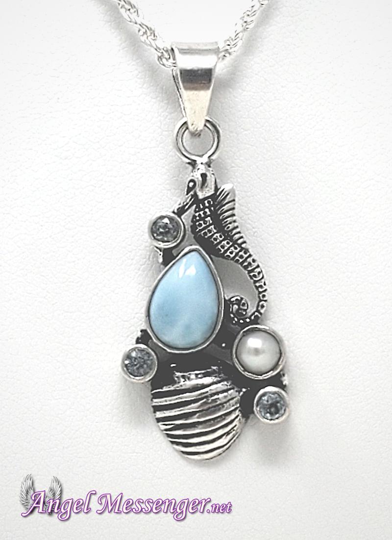 Seahorse Larimar Necklace