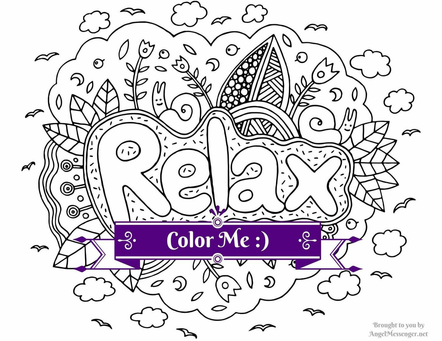 Relax Coloring Page
