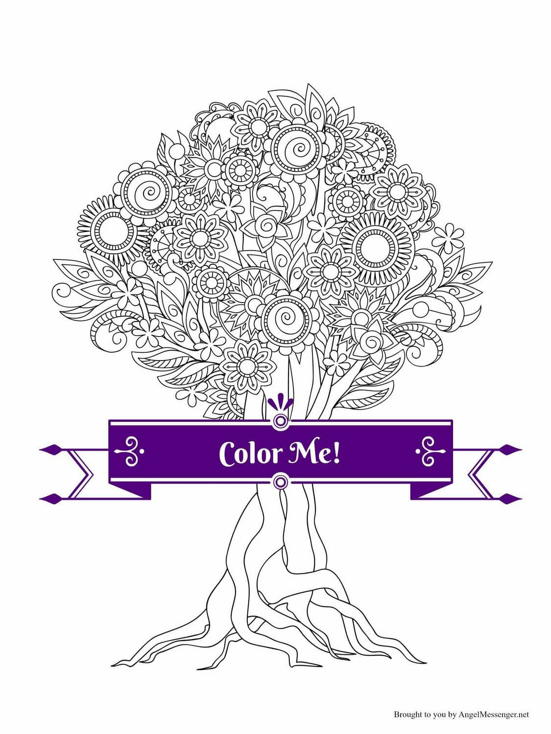 Soul Tree Coloring Page