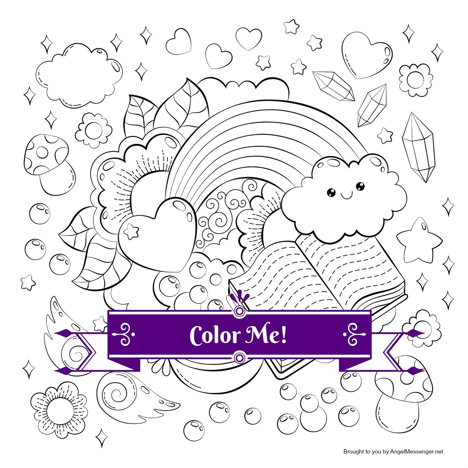 Happy Activities Rainbow Coloring Page