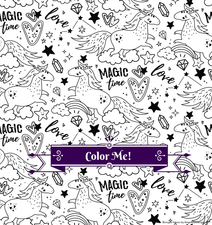 Unicorn Rainbow Magic Coloring Page