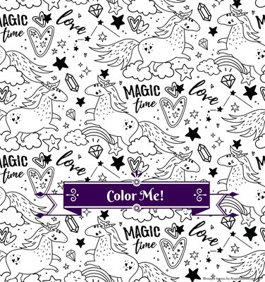 Unicorn Rainbow Magic Coloring Page