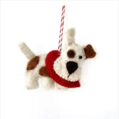 Dog Felt Wool Ornament