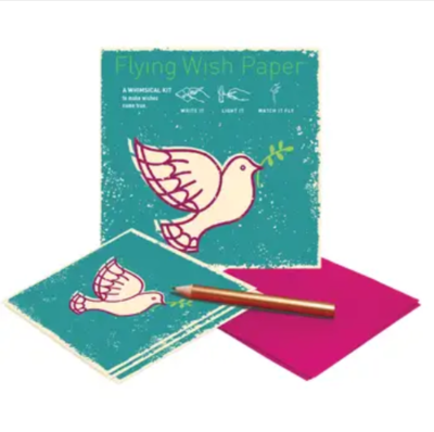 Dove Flying Wish Paper
