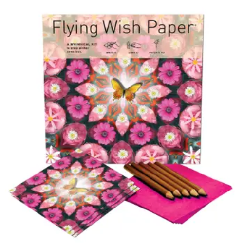 Pink Butterfly Flying Wish Paper (50 Wishes!)