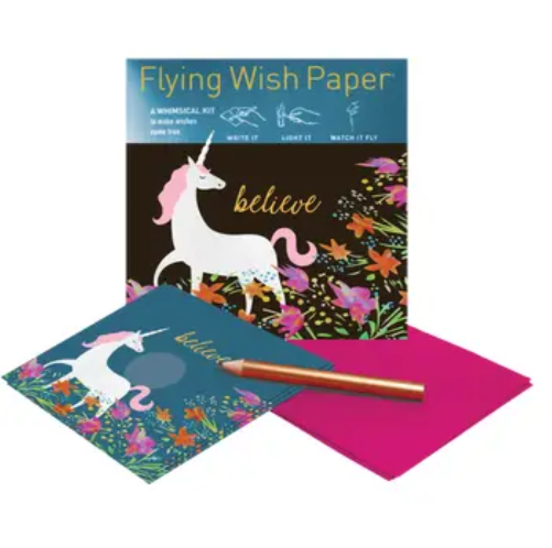 Unicorn Flying Wish Paper