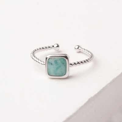 Gianna Silver & Amazonite Ring