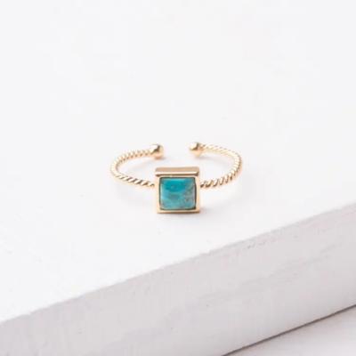Jayne Square Turquoise Ring