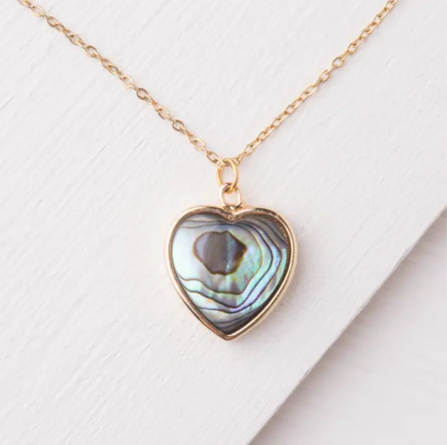 Give Love Abalone Shell Necklace