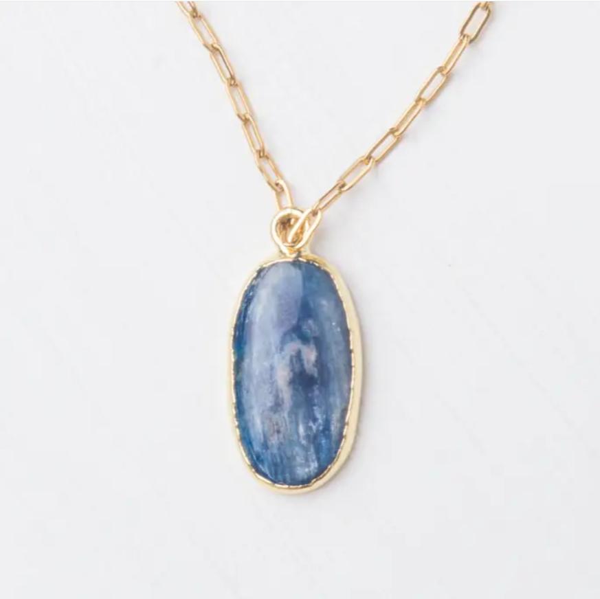 Kyanite Blue Pendant Necklace