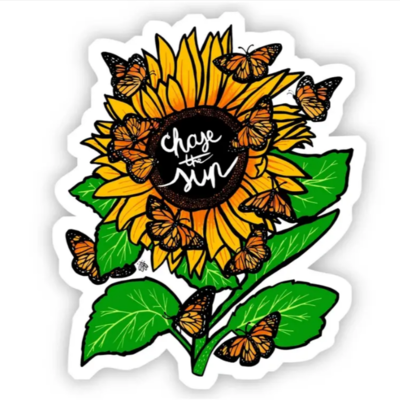 Chase the Sun - Sunflower Sticker