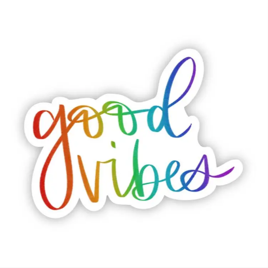 Good Vibes - Rainbow Lettering Sticker
