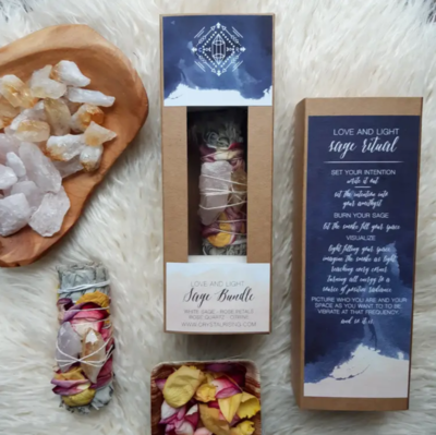 Love & Light Sage Bundle Gift Set