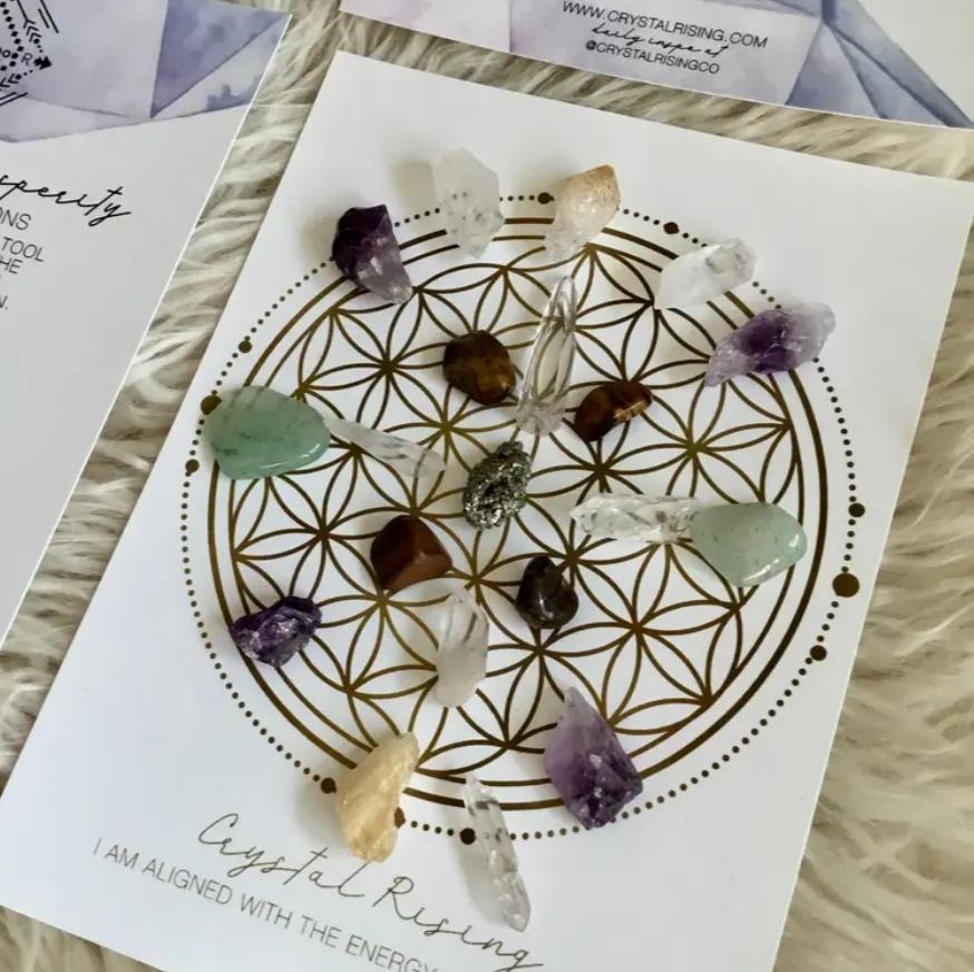 Mini Crystal Grid Ritual Kit (Abundance & Prosperity)