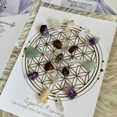 Mini Crystal Grid Ritual Kit (Abundance & Prosperity)