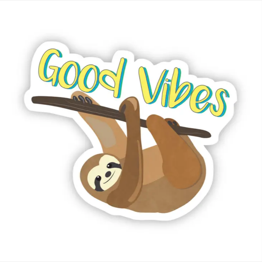 Good Vibes Sloth Sticker