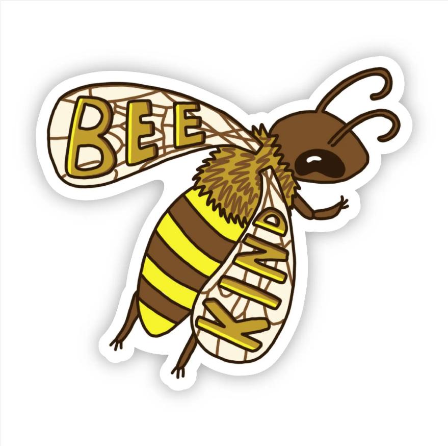 Bee Kind Yellow Bee Sticker