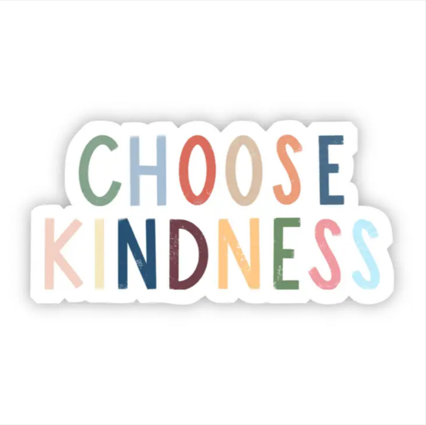 Choose Kindness Multicolor Lettering Sticker